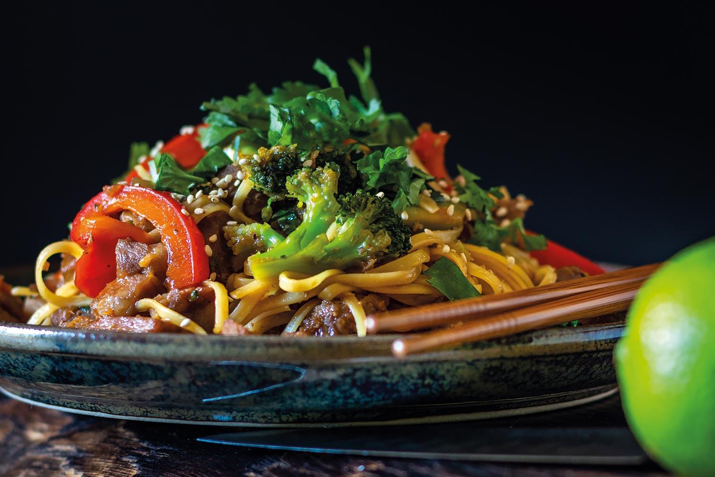 Sticky Pork & Noodle Stir-Fry – spice life | passionate